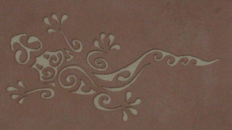 Motifs décoratifs en relief